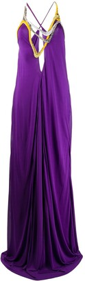 Emilio Pucci Embroidered Neck Gown