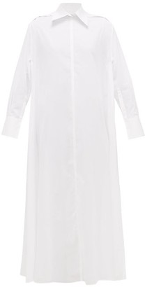 Valentino Side-split Cotton-voile Shirt Dress - White