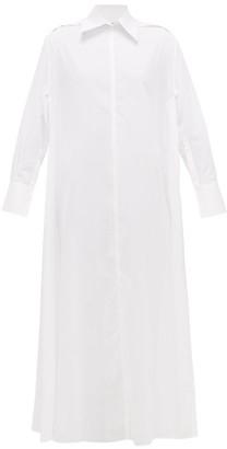 Valentino Side-split Cotton-voile Shirt Dress - Womens - White
