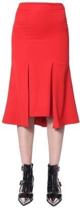Alexander McQueen High Waist Flared Midi Skirt