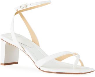 Alexandre Birman Nelly Crisscross Square-Toe Sandals