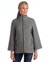 Betsey Johnson Herringbone A-Line Coat