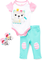 Taggies Pastel Pink Bodysuit & Pants Set - Infant