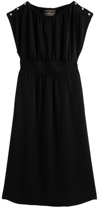 Vanessa Seward X La Redoute Collections Gathered Midi Dress with Diamante Detail