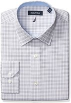 Nautica Men's Check Spread Collar Dress Shirt