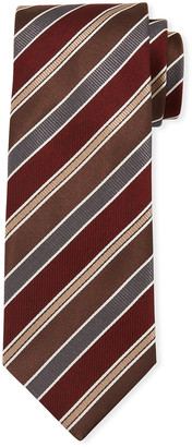 Brioni Men's Multi Repp-Stripe Silk Tie