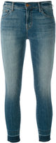 J Brand cropped skinny jeans - women - Cotton/Polyester/Spandex/Elastane - 26