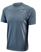 Nike Mens Core Solids Short Sleeve Hydro Rash Guard L