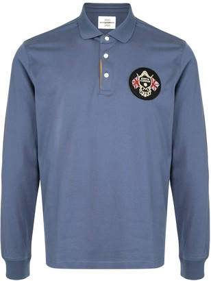 Kent & Curwen Long-Sleeved Polo Top With Logo Patch