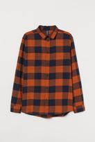 H&M Cotton Flannel Shirt - Orange