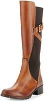 Charles David Hilda Leather Gored Mid-Calf Boot, Cognac