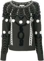 Michel Klein stitch patterned sweater