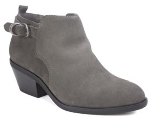 White Mountain Sadie Block Heel Booties Women's Shoes