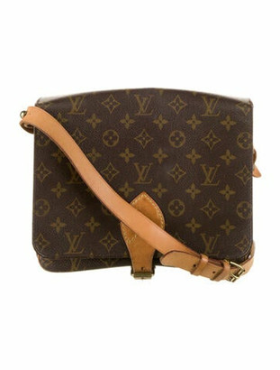 Louis Vuitton Vintage Monogram Cartouchiere GM Brown