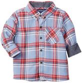 Andy & Evan Plaid Flannel Shirt (Baby Boys 9-18M)