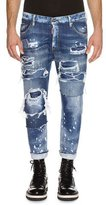 DSQUARED2 Glam Head Super Ripped Wash Jeans, Blue
