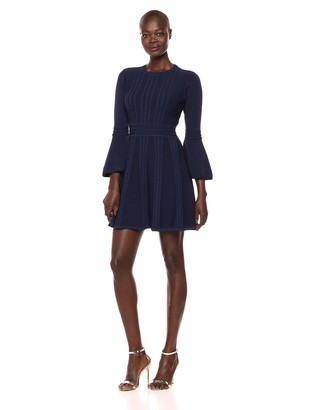 Eliza J Women's Bell Sleeve Knit Fit and Flare Dress