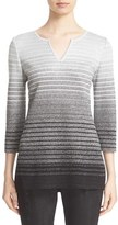 St. John Women's Metallic Degrade Peekaboo Tunic
