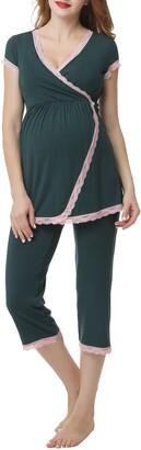 Kimi and Kai Cindy Nursing/Maternity Pajamas