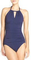 Tommy Bahama Women's 'Pearl' High Halter Neck One-Piece Swimsuit