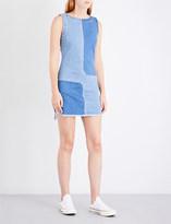 AG Jeans Indie patchwork denim dress