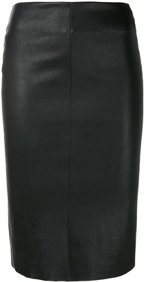 Drome Fitted Leather Skirt