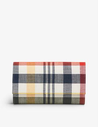 LK Bennett Dayana cotton and linen clutch