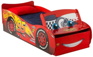 Disney Lightning McQueen Toddler Bed with Light up Windscreen by HelloHome