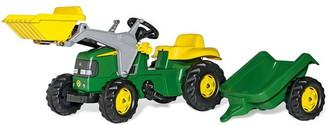 John Deere Deere Rolly Kid Tractor & Frontloader & Trailer