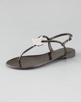 Giuseppe Zanotti Crystal T-Strap Thong Sandal