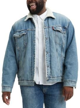 Levi's Men's Big & Tall Sherpa Trucker Jacket