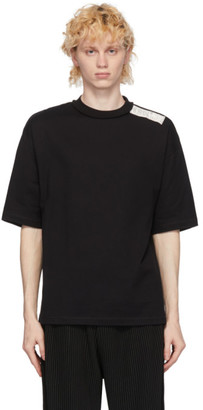 N.Hoolywood Black Shoulder Patch T-Shirt