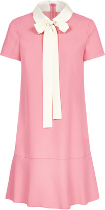 RED Valentino Pussy-bow Neck Viscose-blend Dress