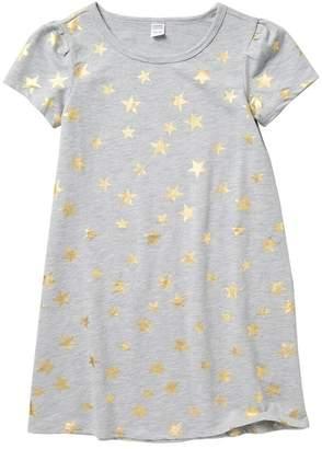 Harper Canyon Puff Sleeve Foil Dress (Big Girls)