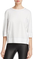 DKNY Pure Three-Quarter Sleeve Crewneck Tee