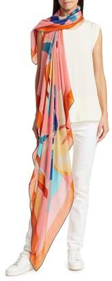 Loro Piana Bougainville Floral Cashmere & Silk Stole