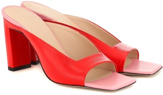 Wandler Isa patent leather sandals