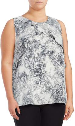 Vince Camuto Plus Speckled Sleeveless Blouse