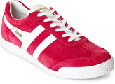 Gola Hot Fuchsia & White Harrier Suede Low Top Sneakers