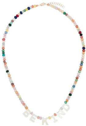 Roxanne First Be Kind 14kt rose gold jade necklace