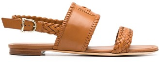 Tod's monogram braided flat sandals