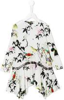 Roberto Cavalli belted bird print dress