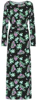 MONICA Bernadette floral jersey midi dress