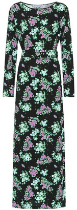 MONICA Bernadette floral jersey midi dress