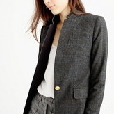 J.Crew Black plaid Regent blazer with satin lapel