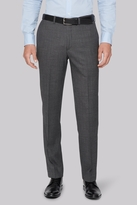 Hardy Amies Tailored Fit Charcoal Melange Trousers