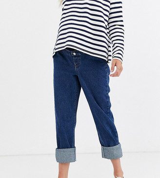 Urban Bliss Maternity relaxed straight leg jeans with deep turn-up