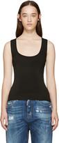 DSQUARED2 Black Stretch-knit Tank Top