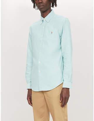 Polo Ralph Lauren Logo-embroiderd slim-fit cotton Oxford shirt