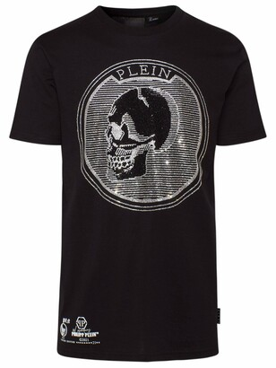 Philipp Plein T-Shirt Teschio Crystal Nera